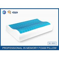 High Density Cooling Gel Memory Foam Contour Pillow , Traditional Shape Gel Neck Pillow