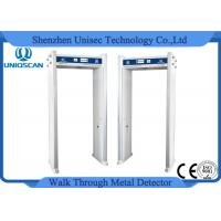 Buy cheap Indication of alarming area door frame metal detector 4 zones walk thru detector from wholesalers