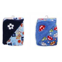 Buy cheap Thickening Double side printed soft polar fleece baby knitted blanket ,Multi-function embroidery , 100%polyeste product