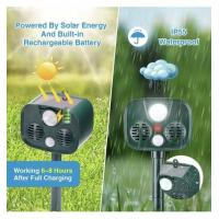 Buy cheap Solar Energy Mobility Portable Ultrasonic Animal Defender Outdoor Camping Anti-theft Alarm Anti-wolf Deer Animal Drive product