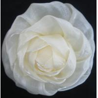 Buy quality 3D artificial chiffon Artificial Flower Corsage with pin for wedding garment at wholesale prices