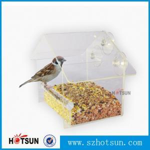 Buy cheap Wholesale 2016 Custom Hanging Bird Water Feeder,Grateful Gnome Window Brid Feeder,Acrylic Clear product