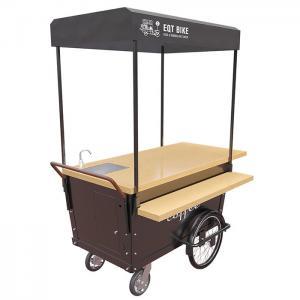 Buy cheap 4 Wheels 300KG Load Push Cart Vendor Food Push Cart With Front Disc Brake product