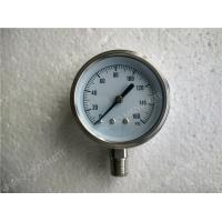"Buy cheap 4""( 100mm ) All Stainless Steel Lower Entry Dry Pressure Gauge , 0 160 psi Pressure Gaug product"