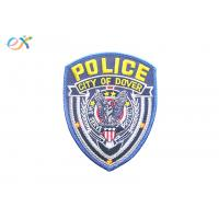 Buy cheap Various Shape Police Embroidered Patch Iron On Backing Twill Material product