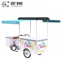 Buy cheap EQT 138L Fridge Ice Cream Tricycle Cargo Bike For Sale High Quality Front Loading Pedal Assist Freezer product