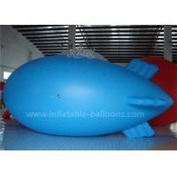 0.2mm PVC Blue Color Inflatable Airship Balloon , Advertising Air Balloons Manufactures