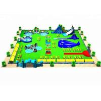 Buy cheap Waterproof Combined Movable Inflatable Water Parks For Backyard / Zoo from wholesalers
