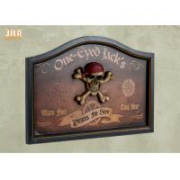 Buy cheap Personalized Wall Decor 3D Resin Pirate Antique Wooden Wall Plaque Decorative Wall Plaques product