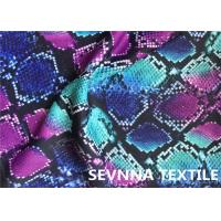 Buy cheap Wefting Knitted Swimwear Knit Fabric , Sublimation Printing Swimwear Spandex from wholesalers