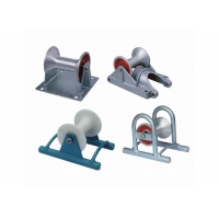 Buy cheap 10KN Galvanized Nylon Sheave Cable Pulling Pulley product
