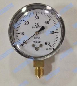 Buy cheap Steel Chrome Capsule Pressure Gauge / Capsule Type Pressure Gauge High Accuracy product
