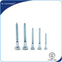 Buy cheap DIN571 Zinc Coated, Carbon Steel, Full Thread Hex Wood Screw Lag Bolt product