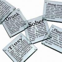 Buy cheap Glass Coasters with Customized Logo, (Cork Coasters Also Available) product