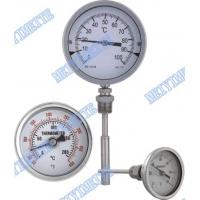 Buy cheap Stainless steel crimp bezel bimetallic actuated thermometers with fixed connector product