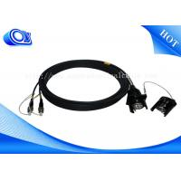 Buy cheap Wall - Mounted 2 Core Connector Tactical Fiber Optic Cable OFNR Flame Retardant from wholesalers