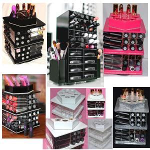 Buy cheap Fashionable lucite acrylic cosmetic display rotating liquid acrylic lipstick holder spinning lipstick lip balm holder product