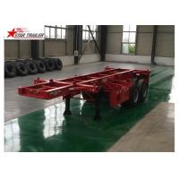 2 Axles Tipper Hydraulic Flatbed Trailer , 50T Flatbed Truck Trailer