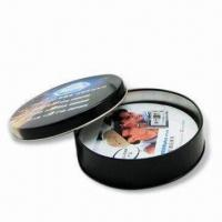 Buy cheap Cork Coasters(Tin material available) with 90mm Standard Diameter and 4 Colors Offset Printing product