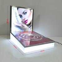 Buy cheap LED Luminous Acrylic Counter Display Stands Striped Surface For Beauty Products product