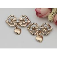 Buy cheap LHZ1004 Zinc Alloy And Rhinestone Shoe Accessories Buckle Replacement Bow Shape product