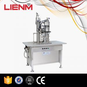 Buy cheap High Quality Semi-auto Aerosol Filling Machine 3 in 1 type in Guanghzou product