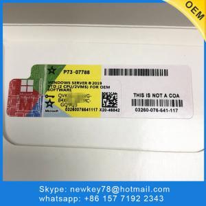 Buy cheap DVD OEM Pack Windows Server 2019 Standard License / 64 Bit Windows Server 2019 Licensing product