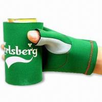 Buy cheap Glove Can Cooler with Flat Lock or Blind Stitching, Made of 2.5 to 4.5mm SBR + Double Polyester product