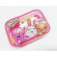 Buy cheap Cute & Lovely Girl Pink Vinyl Zipper Pouches , Non-toxic Clear Plastic Makeup Bag product