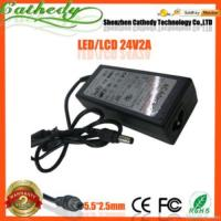Buy cheap 24v 2a Lcd Monitor Printer New Ac Dc Adapter Power Supply Cord Charger product