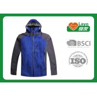 Breathable Outdoor Softshell Jacket Blue Color OEM / ODM Acceptable
