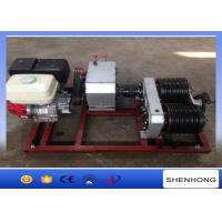 Buy cheap 5 Ton Electric Cable Pulling Winch / Double Capstan Winch With Honda GX390 Gasoline Engine product