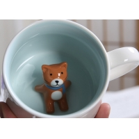 Buy cheap Single Layer White 3D Promotional Ceramic Coffee Mugs product