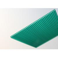 Buy cheap Soundproof Polycarbonate Patio Roof Panels , Green Plastic Roofing Sheets product