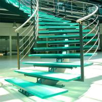 Buy cheap Mono Stringer Stairs / Single Stringer Metal Staircase Prefabricated product