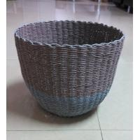 Buy cheap 100% handwoven Paper material   storage basket with round shape,artistic basket product