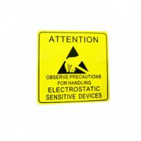 Buy cheap Self Adhesive Electronic Product Label For Electrical Warning Attention product