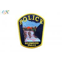 Buy cheap Twill Background Embroidered Fabric Patches , Custom Police Badge Patch product