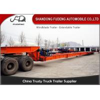 Buy cheap 28 m - 56 m Windmill Blade Trailer for long vehicle transportation product