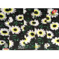 Buy cheap Digital Printed Polyester Spandex Blend Fabric , Floral Lycra Swimwear Fabric product