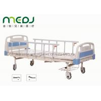 Buy cheap ABS Board Manual Hospital Bed , MJSD05-01 2 Cranks Medical Adjustable Bed product