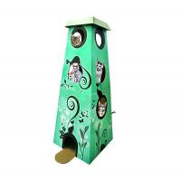 Buy cheap New Design Corrugated Cardboard Cat Furniture House Display For Pets Playing from wholesalers