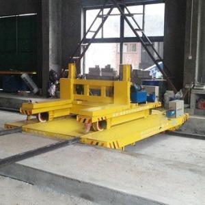 Buy cheap Anti High Temperature Busbar Powered Transfer Cart Heavy Duty Cross Bay Ferry Bogie product