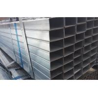 Buy cheap BS1387 ERW Galvanized Steel Square Pipe , Q345 Zinc Coating Steel Rectangular Pipe product