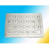 Buy quality Flat Surface Rugged numeric Metal Keypad Watertight Mounted Elevator at wholesale prices