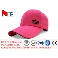 Buy cheap Custom Made Simple Adjustable Golf Hats Pink Tall Relaxed Sports Style product