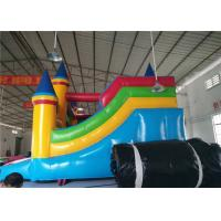 Buy cheap PVC Inflatable Commercial Bounce House Fire Retardant Fun Creative With Slide product