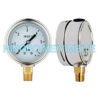 """Buy cheap 4"""" Fillable Matt Stainless Steel Pressure Gauge With Oil Cap CE Standard product"""