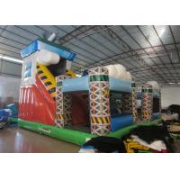 Colorful spaceship inflatable fun city / Digital painting inflatable airship amusement park for sale