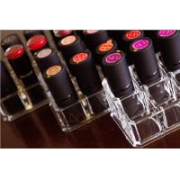 Buy cheap Clear Acrylic Makeup Display Stand Lipstick Tray Holder Distinguished product